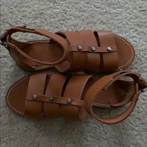New Madewell Gladiator Sandals 7.5 Tan